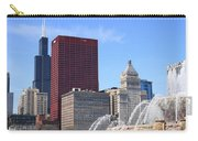 Chicago Skyline And Buckingham Fountain Carry-all Pouch
