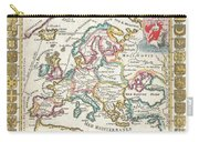 1706 De La Feuille Map Of Europe Carry-all Pouch