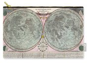 1707 Homann And Doppelmayr Map Of The Moon  Carry-all Pouch