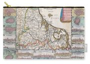 1710 De La Feuille Map Of The Netherlands Belgium And Luxembourg  Carry-all Pouch