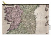 1716 Homann Map Of Ireland Carry-all Pouch