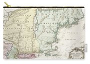 1716 Homann Map Of New England Carry-all Pouch