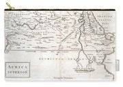 1730 Toms Map Of Central Africa Carry-all Pouch