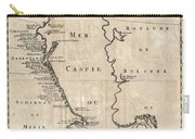 1730 Van Verden Map Of The Caspian Sea Carry-all Pouch