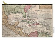 1732 Herman Moll Map Of The West Indies And Caribbean Carry-all Pouch