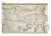 1738 Ratelband Map Of The Balkans Carry-all Pouch