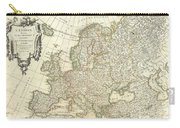 1762 Janvier Map Of Europe  Carry-all Pouch