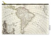 1762 Janvier Map Of South America  Carry-all Pouch
