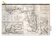 1763 Gibson Map Of East And West Florida Carry-all Pouch by Paul Fearn