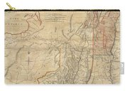 1768 Holland  Jeffreys Map Of New York And New Jersey  Carry-all Pouch by Paul Fearn