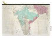 1768 Jeffreys Wall Map Of India And Ceylon Carry-all Pouch