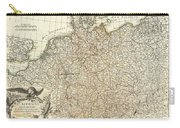 1771 Rizzi Zannoni Map Of Germany And Poland Carry-all Pouch