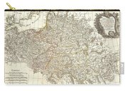 1771 Zannoni Map Of Poland And Lithuania Carry-all Pouch