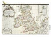1771 Zannoni Map Of The British Isles  Carry-all Pouch