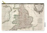 1772 Bonne Map Of England And Wales  Carry-all Pouch