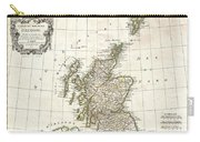 1772 Bonne Map Of Scotland  Carry-all Pouch