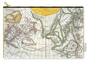 1772 Vaugondy And Diderot Map Of The Pacific Northwest And The Northwest Passage Carry-all Pouch by Paul Fearn