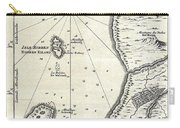 1773 Bellin Map Of The Cape Of Good Hope Capetown South Africa Carry-all Pouch