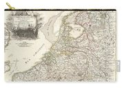 1775 Janvier Map Of Holland And Belgium Carry-all Pouch
