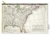 1776 Bonne Map Of Louisiana And The British Colonies In North America Carry-all Pouch