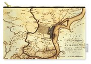 1777 Philadelphia Map Carry-all Pouch by Bill Cannon