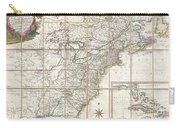 1779 Phelippeaux Case Map Of The United States During The Revolutionary War Carry-all Pouch