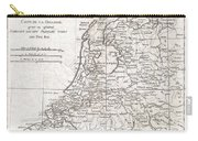 1780 Raynal And Bonne Map Of Holland And Belgium Carry-all Pouch