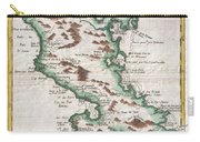 1780 Raynal And Bonne Map Of Martinique West Indies Carry-all Pouch