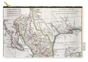 1780 Raynal And Bonne Map Of Mexico And Texas  Carry-all Pouch