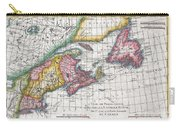 1780 Raynal And Bonne Map Of New England And The Maritime Provinces Carry-all Pouch