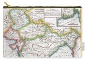 1780 Raynal And Bonne Map Of Northern India Carry-all Pouch
