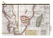 1780 Raynal And Bonne Map Of South Africa Zimbabwe Madagascar And Mozambique Carry-all Pouch