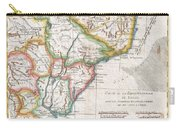 1780 Raynal And Bonne Map Of Southern Brazil Northern Argentina Uruguay And Paraguay Carry-all Pouch
