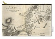 1785 Bocage Map Of Athens And Environs Including Piraeus In Ancient Greece Carry-all Pouch