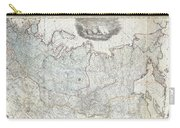 1787 Wall Map Of The Russian Empire Carry-all Pouch