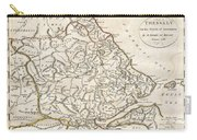 1788 Bocage Map Of Thessaly In Ancient Greece Carry-all Pouch