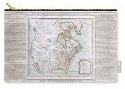 1789 Brion De La Tour Map Of North America Carry-all Pouch