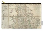 1790 Faden Map Of The Roads Of Great Britain Or England Carry-all Pouch