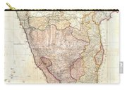 1793 Faden Wall Map Of India Carry-all Pouch