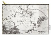 1798 Cassini Map Of Alaska And The Bering Strait Carry-all Pouch