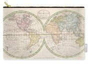 1798 Payne Map Of The World  Carry-all Pouch