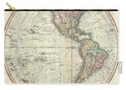 1799 Cary Map Of The Western Hemisphere  Carry-all Pouch