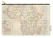 1799 Clement Cruttwell Map Of Africa  Carry-all Pouch