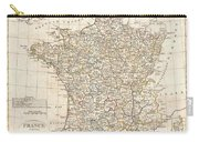 1799 Clement Cruttwell Map Of France In Departments Carry-all Pouch