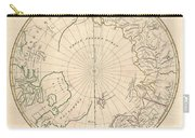 1799 Clement Cruttwell Map Of North Pole Carry-all Pouch