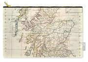 1799 Clement Cruttwell Map Of Scotland Carry-all Pouch