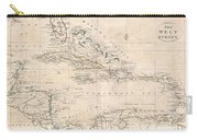 1799 Clement Cruttwell Map Of West Indies Carry-all Pouch