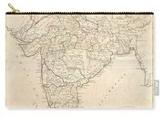 1799 Clement Crutwell Map Of Hindoostan Carry-all Pouch