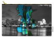 Sacramento Map And Skyline Watercolor Carry-all Pouch