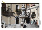 Another View Of An Old Unused Fountain In Taormina Sicily Carry-all Pouch